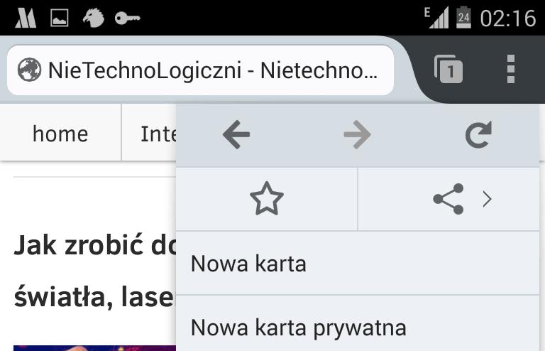 Firefox tryb prywatny sposób otwracia w telefinie Android