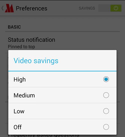 Możliwość wybrania stopnia kompresji filmów video dotyczy tylko ruchu nieszyfrowanego.
