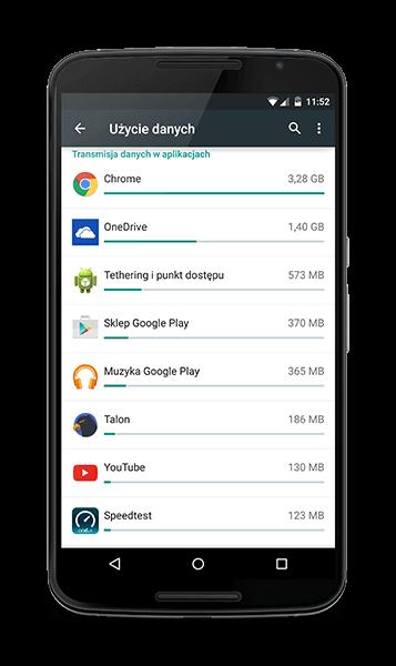 Jak sprawdzić zużycie danych mobilnych w systemie Android Lllipop