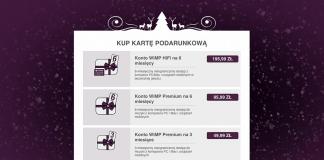 Karty podarunkowe WiMP zmiana cennika