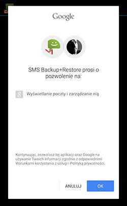 Wyrażenie zgody na zarządzanie pocztą Gmail