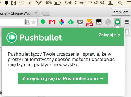 Logowanie do programu w rozszerzeniu dla przeglądarki Chrome