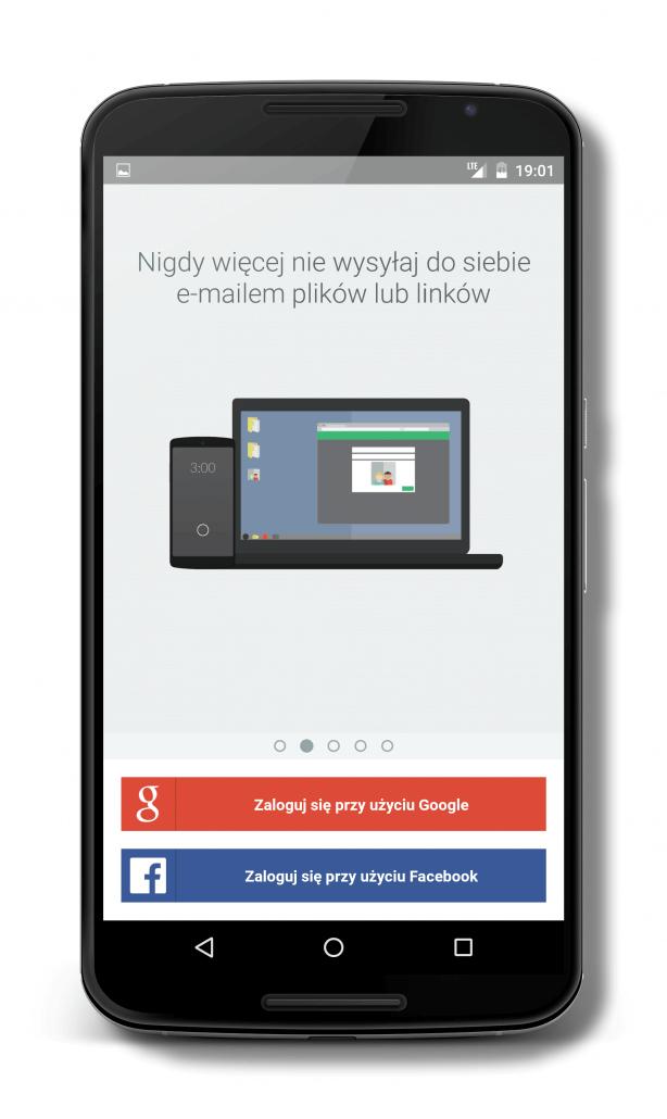 Logowanie do aplikacji Pushbullet tylko przez Google Plus i Facebook