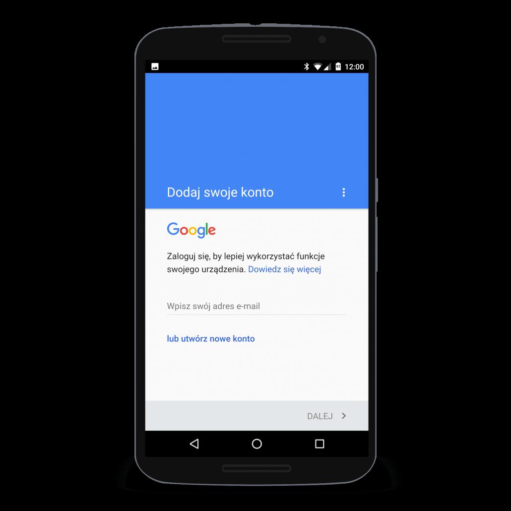 Utwórz nowe konto Google