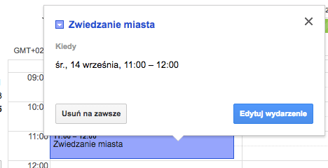 Jak usuwać wydarzenia w Kalendarzu Google w komputerze