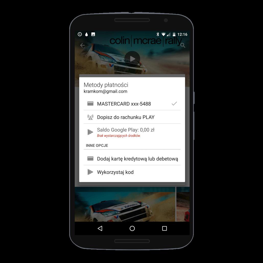 Metody płatności w sklepie Google Play na Androidzie